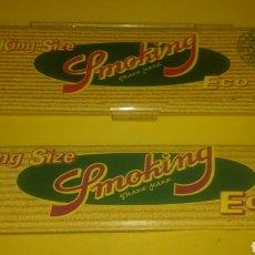 Papel de fumar: CAJITA METÁLICA PAPEL DE FUMAR SMOKING ECO. CON SU PAPEL ORIGINAL.. Lote 237862330