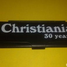 Papel de fumar: CAJITA METÁLICA PAPEL DE FUMAR CHRISTIANIA KING SIZE.. Lote 237862565