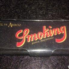 Papel de fumar: CAJITA METÁLICA PAPEL DE FUMAR SMOKING DE LUXE. Lote 198372578