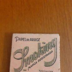 Papel de fumar: LIBRITO DE PAPEL DE FUMAR SMOKING CON HOJAS. Lote 198862040