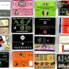 Papel de fumar: PAPEL DE FUMAR 16 FULL PACKETS - 1 1/4 BOOKLETS - CIGARETTE ROLLING PAPER. Lote 199590473