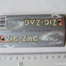 Papel para cigarros: PAPEL DE FUMAR ZIG ZAG SLIM TAMAÑO LARGO MADE IN FRANCE. Lote 200839833