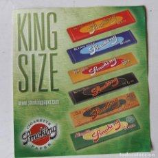 Papel para cigarros: FLYER HOJA PUBLICIDAD PAPEL DE FUMAR SMOKING SERIE KING SIZE MIQUEL Y COSTAS & MIQUEL. Lote 200858838