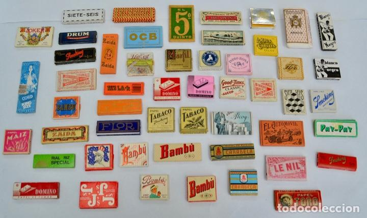 GRAN LOTE DE LIBRILLOS DE LIAR. PAPEL DE FUMAR. 52 MODELOS DIFERENTES. ESPAÑOLES Y EXTRANJEROS (Coleccionismo - Objetos para Fumar - Papel de fumar )
