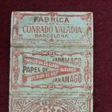 Papel de fumar: FUNDA PAPEL FUMAR JARAMACO. CONRADO VALADIA. BARCELONA. Lote 203960406