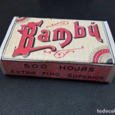 Papel de fumar: PAPEL DE FUMAR BAMBÚ 500 HOJAS AÑOS ALCOY. AÑO 1920,S. RESELLO TELEGRAFOS. Lote 204103336