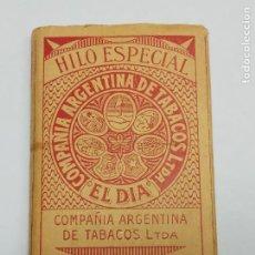 Papel de fumar: PAPEL DE FUMAR EL DÍA ARGENTINA. MUY RARO, FABRICADO EN ALCOY.. Lote 204228782