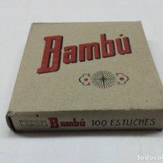 Papel de fumar: CAJA SIN ABRIR DE 100 LIBRILLOS DE PAPEL DE FUMAR BAMBU AÑOS 1930 ALCOY. Lote 204229211