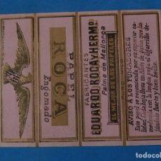 Papel de fumar: ENVOLTURA O PARTE DE UN LIBRILLO PAPEL FUMAR. EDUARDO ROCA Y HERMº. PALMA MALLORCA.. Lote 204711250