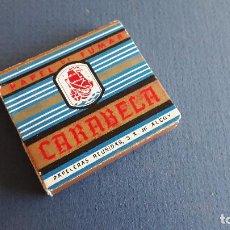 Papel de fumar: PAPEL DE FUMAR SIN ESTRENAR CARABELA 4X5CM APROX. Lote 204802688