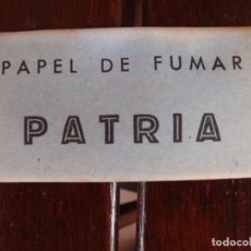 Papel de fumar: PATRIA. Lote 205322405