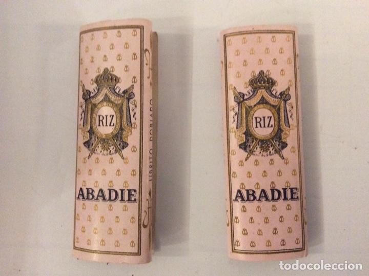 2 LIBRITOS PAPEL DE FUMAR ABADIE RIZ MUY ANTIGUOS (Coleccionismo - Objetos para Fumar - Papel de fumar )