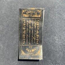 Papel de fumar: XIX LIBRITO DE PAPEL DE FUMAR - FABRICA DE FRANCISCO PLANELLS - PALMA. Lote 206758368