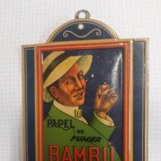 Papel de fumar: AUTENTICA CHAPA. PAPEL DE FUMAR BAMBU. ABAD SANTONJA. ALCOY. Lote 207086863