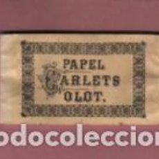 Papel de fumar: RARO Y VIEJO PAPEL DE FUMAR - PAPEL CARLETS DE OLOT PERFECTO SIN ESTRENAR. Lote 208371641