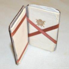 Papel de fumar: ABADIE RIZ - ANTIGUO LIBRILLO EN CUERO - CON PAPELES. Lote 213684422
