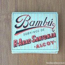 Papel de fumar: PAQUETE DE PAPEL DE FUMAR BAMBÚ R ABAD SANTONJA ALCOY ANTIGUO SIN USAR. Lote 215391743
