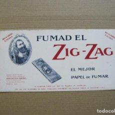 Papel de fumar: PAPEL DE FUMAR ZIG ZAG-PAPEL SECANTE CON PUBLICIDAD-VER FOTOS-(K-264). Lote 217281756