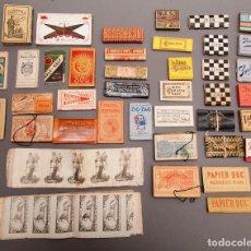 Papel de fumar: PAPEL DE FUMAR ANTIGUO - LOTE - PIEZAS RARAS. Lote 217592150