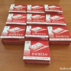 Papel de fumar: 20 LIBRILLOS DE PAPEL DE FUMAR DOMINÓ. PAPELERAS REUNIDAS ALCOY. Lote 218689028