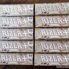 Papel de fumar: LOTE 10 LIBRILLOS PAPEL DE FUMAR RIZLA + NATURA. Lote 220058393