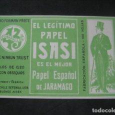 Papel de fumar: PAPEL DE FUMAR VICENTE ISASI ISASMENDI. JARAMAGO, BARCELONA. Lote 221957460