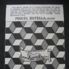 Papel de fumar: PAPEL DE FUMAR LA ZORRA. MIGUEL BOTELLA. ALCOY. Lote 221957605