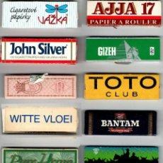 Papel de fumar: 12 DIFFERENT SINGLE AUTOMATIC BOOKLETS.. Lote 222235117