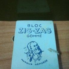 Papel para cigarros: PAPEL DE FUMAR BLOC ZIG-ZAG GOMMÉ AUTOMATIQUE Nº 601. BRAUNSTEIN PARÍS.. Lote 225235875