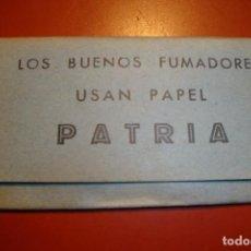 Papel de fumar: PATRIA PAPEL DE FUMAR. Lote 233160545