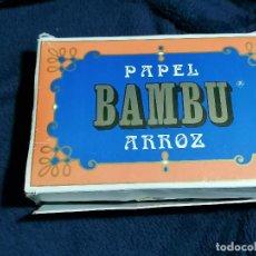 Papel de fumar: CAJA LOTE DE 30 PAPEL FUMAR MUY VARIADO VA CON LA CAJA EXPOSITORA BAMBU. Lote 234729345