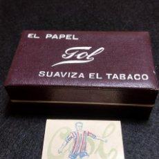 Papel de fumar: ANTIGUA CAJA PAPEL DE FUMAR GOL, CON SEIS LIBRITOS. Lote 235537065