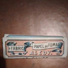 Papier à rouler: PAPEL DE FUMAR ANTIGUO FABRICA ALCOY LE CANOT. Lote 241774625