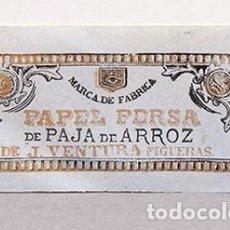 Papel de fumar: PAPEL PERSA - J. VENTURA FIGUERAS - PAPEL DE FUMAR. Lote 243197400