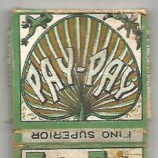 Papel de fumar: ANTIGUO PAPEL DE FUMAR FINO SUPERIOR PAY - PAY FABRICANTES IVORRA Y PAYA ALCOY ESTUCHE JAPONES. Lote 245387545