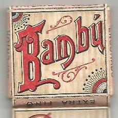 Papel de fumar: ANTIGUO PAPEL DE FUMAR FINO ENGOMADO BAMBU SOBRINOS DE R, ABAD SANTOJA ALCOY ESTUCHE YNGLES. Lote 245389950