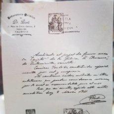 Cartina per sigarette: LABORATORIO CLINICO DR. PESET ANALISIS PAPEL DE FUMAR EGIPTO LA CLARIANA ONTENIENTE 1914. Lote 245937710