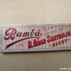 Papel de fumar: PAPEL DE FUMAR BAMBU. R. ABAD SANTONJA. ALCOY. Lote 249567585