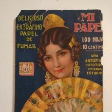 Papel de fumar: MI PAPEL - CARTON PUBLICIDAD PAPEL DE FUMAR- VER FOTOS - CORTADO. Lote 254696385