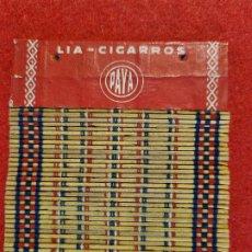 Papel de fumar: PAPEL DE FUMAR LIA CIGARRILLOS PAYA MIRALLES VALENCIA ORIGINAL. Lote 269261428