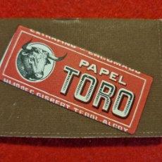 Papel de fumar: PAPEL DE FUMAR LIBRETA PUBLICIDAD EL TORO RELIEVE ALCOY ALICANTE ORIGINAL. Lote 269261963