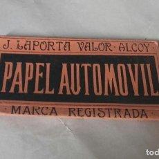 Papel de fumar: LIBRITO PAPEL DE FUMAR J. LAPORTA VALOR, ALCOY. ALCOI, PAPEL AUTOMOVIL, EL AUTOMOVIL, CLASE FUERTE. Lote 269365578