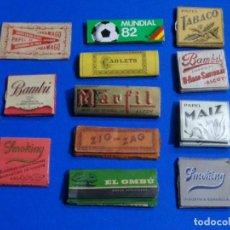 Papel de fumar: LOTE 12 PAPELES DE FUMAR. MARFIL, ZIG-ZAG, EL OMBU, JARAMAGO, BAMBÚ ETC.. Lote 271559873