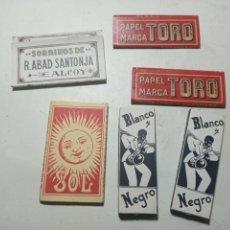 Papel de fumar: ORIGINAL NO COPIA. LOTE COLECCIÓN LIBRILLOS PAPEL FUMAR. Lote 276466918