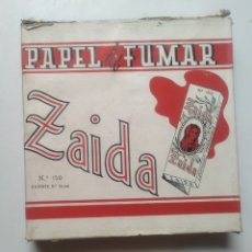 Papel de fumar: CAJA PAPEL DE FUMAR ZAIDA Nº 150 CON 45 LIBRILLOS. Lote 285053613