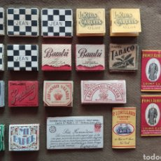 Papel de fumar: PAPEL DE FUMAR ANTIGUO LOTE PAY - PAY SMOKING JEAN GUARRO BAMBÚ PRINCE ALBERT JARAMAGO .... Lote 286979503