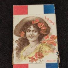 Papel de fumar: PAPEL DE FUMAR LADY. FABRICADO EN AUSTRIA CROMOLITOGRAFÍA FINALES SIGLO XIX. Lote 293865543