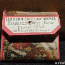 Papel de fumar: PAPEL DE FUMAR DERNIERES CARTOUCHES, BRAUNSTEIN FRERES (ZIG - ZAG) SIGLO XIX. Lote 293867923