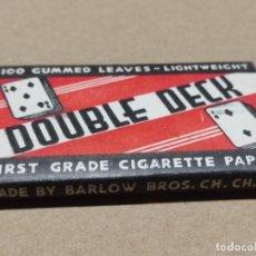 Papel de fumar: ANTIGUO PAPEL DE FUMAR DOUBLE DECK (FRANCIA / AUSTRALIA) AÑOS 1940,S. Lote 293875698
