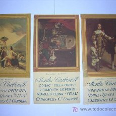 Coleccionismo Papel secante: TRES SECANTES CARBONELL. Lote 128314052